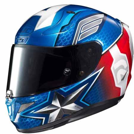 HJC Unisex-Adult Full Face RPHA-11 PRO Marvel Captain America Motorcycle Helmet
