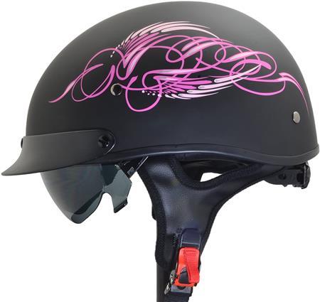 Vega Helmets Unisex-Adult Half Size Motorcycle Helmet